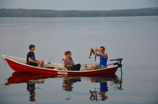 Fishing in Kainiemi, Finland
